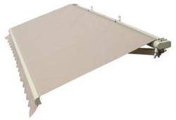 High Quality Beige 5' x 3.5' Retractable Patio Awning Canopy