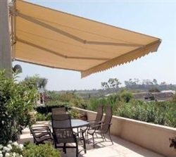 High Quality Beige 10' x 8' Retractable Patio Awning Canopy