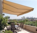 High Quality Beige 13' x 10' Retractable Patio Awning Canopy