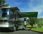 High Quality Green 11.5' x 8' RV Retractable Patio Awning Canopy