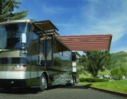 High Quality Red and White Stripe 11.5' x 8' RV Retractable Patio Awning
