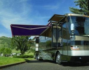 Blue 13' x 8' RV Retractable Patio Awning Canopy