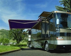 High Quality Blue 10' x 8' RV Retractable Patio Awning Canopy