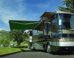 High Quality Green 10' x 8' RV Retractable Patio Awning Canopy