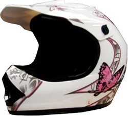 Youth Butterfly Dirt Bike Motocross MX Helmet (DOT Approved)