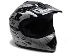 Youth Flame Dirt Bike Motocross MX Helmet (DOT Approved)