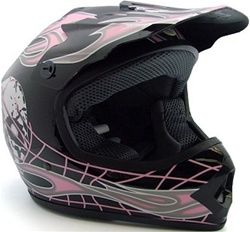 Youth Skull Dirt Bike Motocross MX Helmet (DOT Approved)
