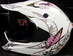 Adult Butterfly Motocross Helmet (DOT Approved)