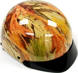 Adult Tree Forester Camo Motorcycle Half Helmet (DOT Approved)