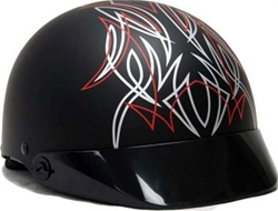 Adult Matte Motorcycle Half Helmet (DOT Approved)