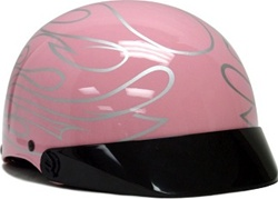 Adult Tribal Flame Motorcycle Half Helmet (DOT Approved)