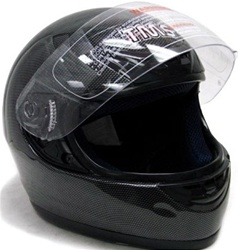 Carbon Fiber Graphic TMS Full Face Motorcycle Helmet (DOT Approved)