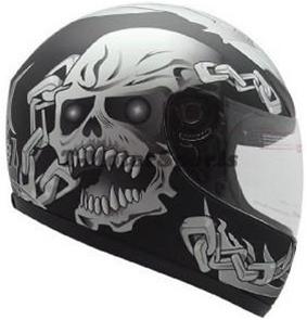 Tms Full Face Motorcycle Helmet Chain Skull Dot Approved
