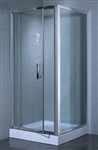 Corner Shower Enclosure Partial Frame w/ Hinged Door & Aluminum Frame