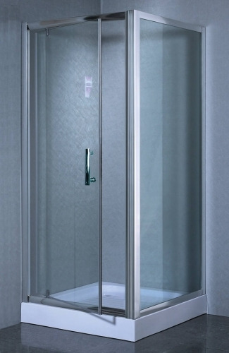 Corner Shower Enclosure Partial Frame W Hinged Door