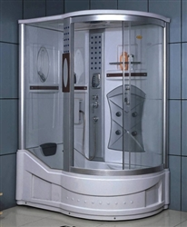 Right Corner Shower Enclosure w/ Bathtub, Radio, & 5 Massage Jets