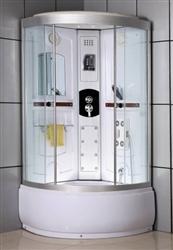 Right Side Corner Shower Enclosure W Steam Radio Amp Massage