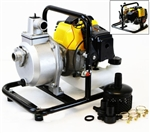 "Portable 2.4HP 1850GPH Gas Powered Water Pump w/ 1"" Inlet & Outlet"