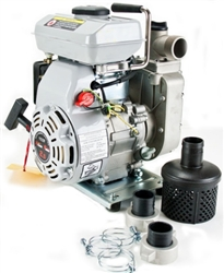 "Industrial 2.5HP 97cc 4 Stroke Air Cooled Gas Powered Trash Water Pump w/ 1.5"" NPT"