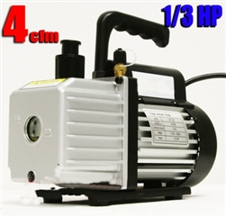 1/3HP 4CFM Single Stage Vacuum Pump w/ HVAC A/C Refrigeration Gauge Set & a Free Bottle Vacuum Oil