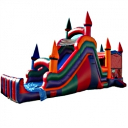 Commercial Grade Inflatable 4in1 Slide Combo Bouncy House