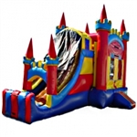 Commercial Grade Inflatable 3in1 Royal Castle  Slide Combo Bouncy House