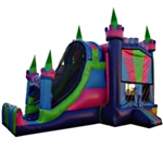 Commercial Grade Inflatable 3in1 Multi Colored Slide Combo Bouncy House