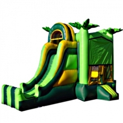 Commercial Grade Inflatable 3in1 Module Tropical Slide Combo Bouncy House