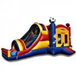 Commercial Grade Inflatable 3in1 Sports Slide Combo Bouncy House