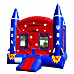 Commercial Grade Inflatable Space Ship Jumper Bouncer Bouncy House