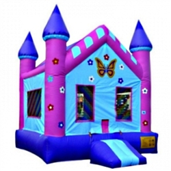 Commercial Grade Inflatable Butterfly Doll House Bouncer Bouncy House
