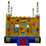 Commercial Grade Inflatable Birthday Cake Castle Bouncer Bouncy House