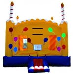 Commercial Grade Inflatable B-Day Cake Bouncer Bouncy House