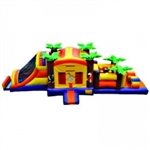 Commercial Grade Inflatable 3in1Tropical Combo Obstacle Course