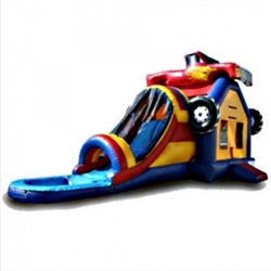 Commercial Grade Inflatable Monster Truck Water Combo Bouncy House