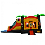 Commercial Grade Inflatable Jungle 3in1 Water Combo Bouncy House