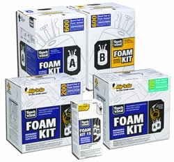 sealing fire retardant closed cell spray foam insulation kit 600 bf. Black Bedroom Furniture Sets. Home Design Ideas