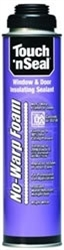 Touch N Seal No-Warp Foam Window Door Sealant - 12 Cans