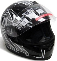 Adult Motorcycle Full Face Helmet (DOT Approved)