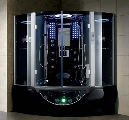 brand new luxury black jetted tub and steam shower room 641 x 641 x 878 - Luxury Steam Showers