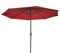 Brand New 9' Outdoor Garden Patio Umbrella w/ 40 LED Lights
