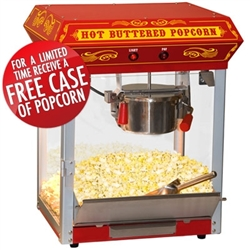 Brand New Carnival Style 4oz Hot Oil Popcorn Machine