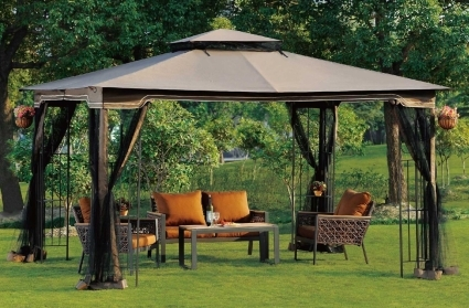 10x12 Ez Pop Up Tent Instant Patio Gazebo Canopy Shade W Mosquito Netting