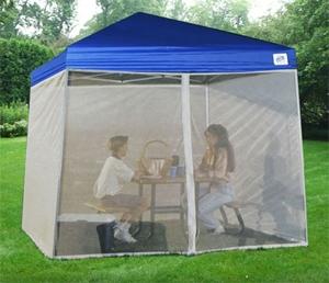 Screenroom For Easy Pop Up 10 X 10 Blue Tent Gazebo