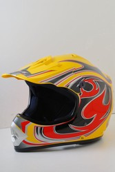 Yellow MotoCross Helmet (DOT Approved) Kids or Adult