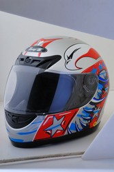 White Motorcycle Helmet (DOT Approved) Kids or Adult