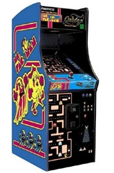 Ms Pacman/Galaga Upright Video Game