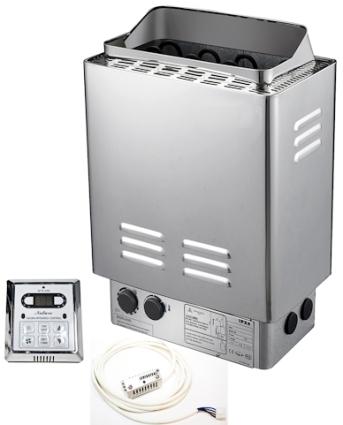 KW Stainless Steel WETDRY Sauna Heater Stove WController - Sauna heater wiring diagram