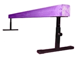 "High Quality Purple 8' Gymnastics Balance Adjustable 12""-18"" High Beam"