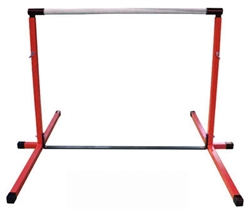 High Quality Red 3'-5' Adjustable Gymnastics Bar
